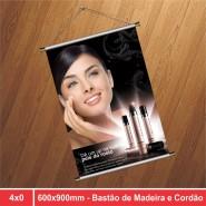 Banner Bastão e Cordão - 600x900mm - 4x0 - 1 Unidade